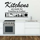 FAMILY KITCHEN wall sticker rules home large quote art vinyl house stickers