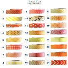 Washi Tape Masking Tape Gift and Craft Tape - YELLOW & ORANGE