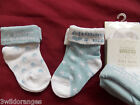 Baby Boy Socks Pack of 2 Blue & White Size 0-0, 0-2, 3-5  - I Love Mummy