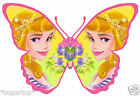 24 x Princess Aurora Sleeping Beauty Butterflies Edible Cup Cake Toppers
