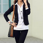 Spring Suits One Button Frills Slim Women Blazer Coat Jacket Ladies S M L XL