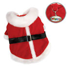 New Klippo Red Christmas Santa's Dog Coat with Furry Trims Various Sizes