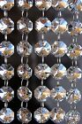 Clear w Silver Coating - Lead Glass Crystal - Octagon Chandelier - Prisms Chains