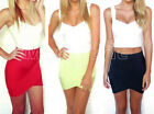 Sexy Ladies Wiggle Bodycon Skirt Mini Skirt Bandage Party Dress Solid Color