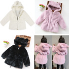 Winter Girls Baby Faux Fur Warm Fleece Jacket Pearl Coat Snowsuit Outwear 2T-5T