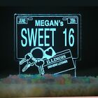 Personalized Sweet 16 Drivers License Birthday Cake Topper Optional LED Light
