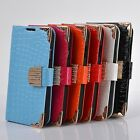 luxury Magnetic Flip leather bling case cover Wallet for Samsung Galaxy S4 I9500