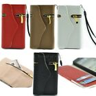 9 Color Luxury Leather Zipper Wallet magnetic Flip Case Cover for iphone 5 5G