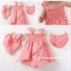 New Baby Girls 3 Pcs Outfit Clothes Set Hat+Suspender Skirt+Short Size 00,0,1,2