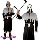 Mens Grim Reaper Deluxe Men Halloween Costume Fancy Dress Party Dress