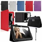 Leather Flip Case Holder Cover For Amazon Kindle Fire HD 7 2012 Edition & Stylus