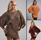 Sexy Ladies Elegant Knitted Batwing Tunic Jumper size M/L UK size 10/12