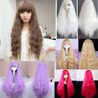 Heat Resistant Long Curly Wave Hair Full Wigs Fashion Sexy Free Cosplay Party