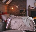 Stag Beige Deer Duvet Quilt Cover Bed Set Single Double King Reversible