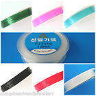 2 Reels x 18M Elastic Stretch Cord Beading Thread 0.6mm Choose Colour