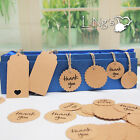 Brown Kraft Paper Hang Tags Wedding Party Favor Punch Label Price Gift Cards