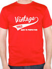 VINTAGE 1963 AGED TO PERFECTION - Birth Year /Birthday Gift Themed Men's T-Shirt