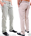 Men's 98-86 CHINO Trousers with Belt Jeans Size 29 30 31 32 33 34 36