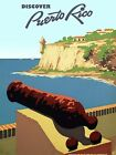3387.Discover Puerto Rico Travel POSTER.Home Room Office Wall art decor.Morro