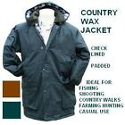 MENS COUNTRY PADDED WAX JACKET S-3XL