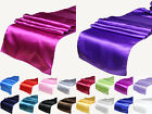 "Satin Table Runner 12"" x 108"" Wedding Decoration Supply Party Decor 18 color"