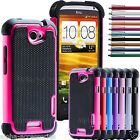 Shock Proof Dual Layer Silicone & Hard Defender Builder Case Cover HTC ONE X
