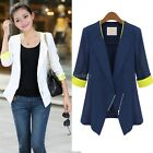 Stylish Womens Slim Half Sleeve OL Office  Coat Jacket Suits Blazers Top ItS7