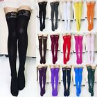 Sexy Fashion Women Thick Lace Top Opaque Thigh High Stockings15 Colors HOT SALE