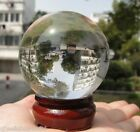 ASIAN QUARTZ Clear Crystal Ball Sphere 40mm--110mm +stand