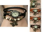 New Classic Vintage Women Ladies Girls  Leather Strap Bracelet Watch XMAS Gift