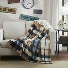 Soft Winter Cabin Super Flannel Striped Tartan Plaid Checkered  Throw Blanket image
