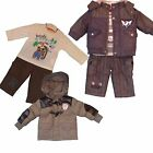 Baby Boy WARM 3 Pieces Outfit/ Set - Padded Jacket , Trousers/Jogging Pants&Top