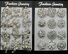 12Px wholesale lot brooches mixed designs silver or gold colors brooch pins