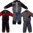 NEW Boys 3 Pieces Outfit/Set Tracksuit: Jacket/ Hoody Top&Jogging Pants/ Bottom