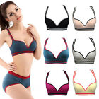 Women's Sexy Stretch Yoga Athletic Sports Bras Tops Padded Sleeveless 6Colors