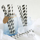 Colorful Wedding Favor Paper Drinking Straws Chevron Striped Star Polka Dot
