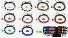 Crystal Pave Disco Ball Weave Shamballa Beads Bracelet,Earrings,Necklace,Sets