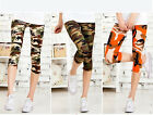 New Women Girl Slim Camo Army Camouflage Shorts Tights Pants Leggings Cropped