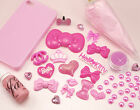 ALL-IN-ONE Pretty Pink DIY Decoden Kit Cabs, Cream, Sauce, Dustplug, Sprinkles!