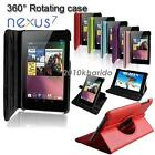 360 Rotating PU Leather Case Cover  Asus Google Nexus 7