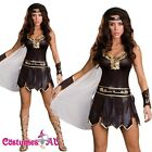 Ladies Xena Gladiator Warrior Princess Roman Spartan Fancy Dress Costume & Cape