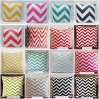 ZigZag Chevron Home Decor MANY SIZES & COLORS Pillow Cover Sham Case 100% Cotton