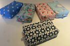 ZIPPED BABY WIPES CASE/COVER MADE IN DESIGNER OIL CLOTHS *SPOTS*HEARTS*FLOWERS*
