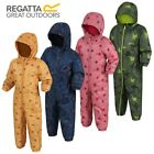 REGATTA SPLAT WATERPROOF PADDED FLEECE LINED ALL IN ONE SNOW SUIT BOYS GIRLS