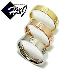 MEN WOMEN Stainless Steel 6mm Silver/Gold/Rose Gold Wedding Band Ring*SH