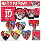 1D One Direction Girls Birthday Party Supplies Tableware Decorations Boy Band