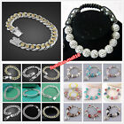 Wholesale Fashion Jewelry Lady/Mens Solid s925 Silver bangle Bracelet Chain +Box