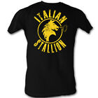 Rocky Balboa Italian Stallion Black Movie Cotton S-2XL Adult T Shirt