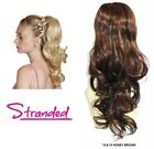 "WAVY PONYTAIL HAIR PIECE DRAWSTRING CLIP 18"" EXTENSION CHLOE HONEY BROWN 12.8.13"
