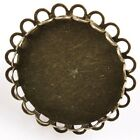 New Charms Alloy Jewelry Rings Retro Bronze Tone Round / Oval Blank Base Ring